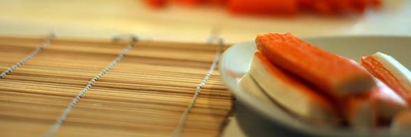 Crabmeat für Sushi