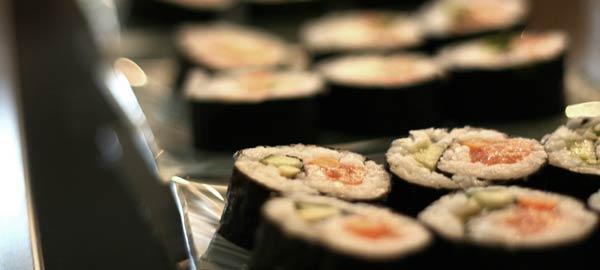 Hausgemachte Sushi Rolls
