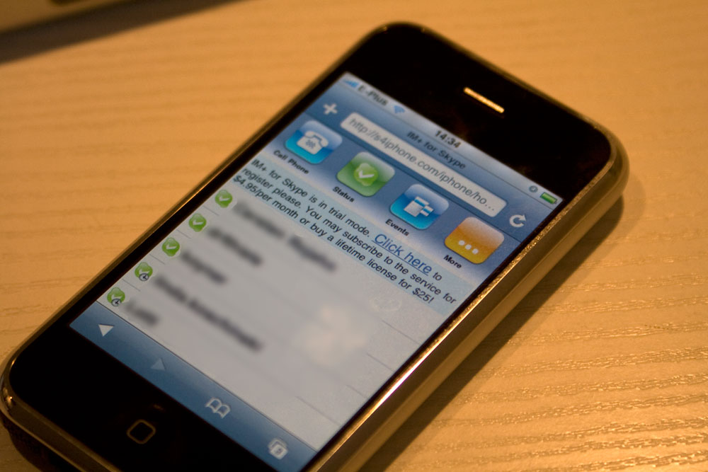Skype auf meinem iPhone