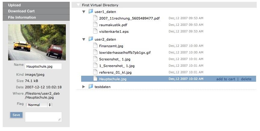 Dateivorschau mit Relay
