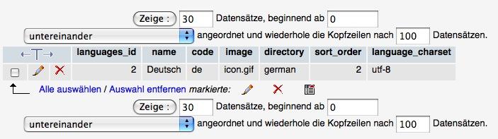 Anpassung der Language Kodierung