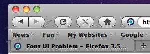 Firefox hat Probleme mit der Darstellung