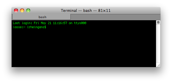 Mac Os Terminal - hier können direkt Kommandozeilenbefehle eingegeben werden